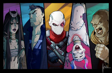 SUICIDE SQUAD 2016 [Colored] by COLOR-REAPER