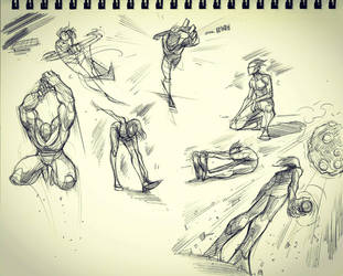 Gesture Doodles 2 by COLOR-REAPER
