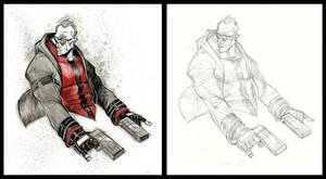 Inktober #10 Gunner by COLOR-REAPER