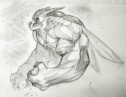 Random Creature Sketch by COLOR-REAPER