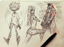 Pen Sketches by COLOR-REAPER