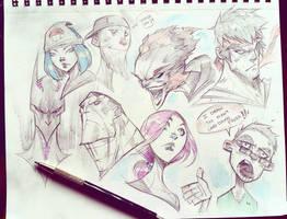 Face Doodles by COLOR-REAPER