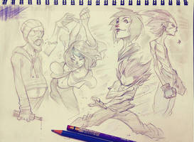 Penchill Sketches by COLOR-REAPER