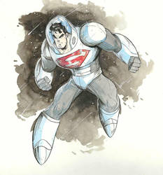 Space Suit Superman   by COLOR-REAPER