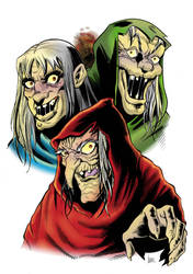 Old Witch, Vault Keeper and Crypt Keeper by DaniDocampo