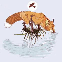 Grandkids : marsh fox by paperzopilote
