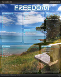 Freedom - WIP Rainmeter Theme by Indigo-Glow