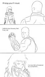 INJRWBY Elseworlds Ren vs Thanos by MechaG11
