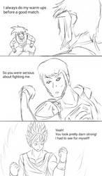 INJRWBY Elseworlds: Superman vs Goku by MechaG11