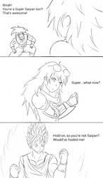 INJRWBY Elseworlds: Yang vs Goku by MechaG11