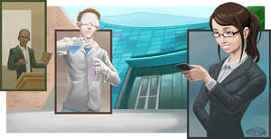 School: Business Illustration by mattandrews