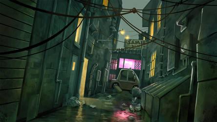 1000: Alley Background 1 by mattandrews