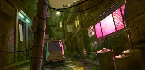 1000: Alley Background 2 by mattandrews