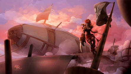 Sky Piratess by mattandrews