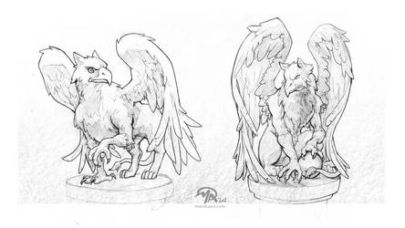 Magic Girl: Gryphon Sketches by mattandrews