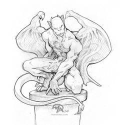Magic Girl: Gargoyle Sketch by mattandrews