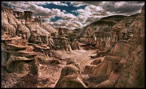 Bisti Badlands Planet Earth? by kimjew