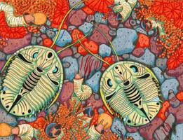 Genevievella Trilobites by NocturnalSea