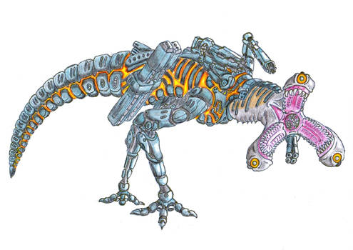 Martian Bioprinter Apex Predator by biohazzart