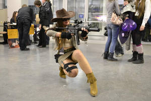 Me as Caitlyn Safari from League of Legends by Drzuma