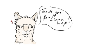 Thank you for Llama badge by Drzuma