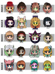Mini Cheebs - Set of 20 by Cloaked-Starlight