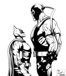 Batman vs. Bane ( No Rain) by frostdusk