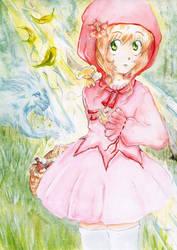 Red Little Riding Hood Sakura by Akai-lein