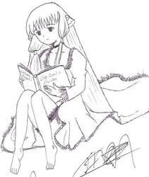 Chii estudiando by tino1989