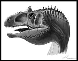 Allosaurus fragilis portrait by highdarktemplar