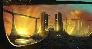 Cityscape 9 - Protoss Tribunal by highdarktemplar