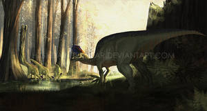 Lambeosaurus magnicristatus by highdarktemplar