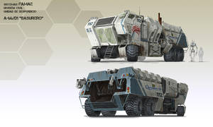 A-66/D1 Garbage truck by highdarktemplar