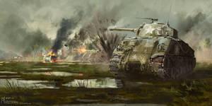 M4 Sherman by highdarktemplar