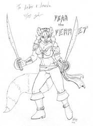 Fear the Ferret by LovelyPsychoS