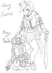 Queen of Pirates,King of Fools by LovelyPsychoS