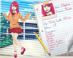 SS - Fiche personnage : Honoka Nakahira by Be-ber