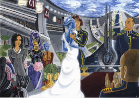 Wedding of Jane and Liara by ClarkVador