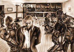 Shepard under arrest by ClarkVador
