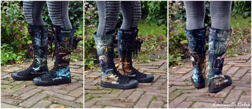 Concert Boots by LacernellaRubra
