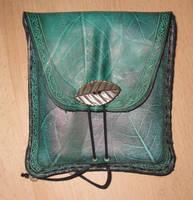 Square belt bag leaf printed by akinra-workshop