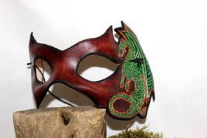 Dragon venitian, leather mask by akinra-workshop