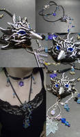 Frost Bitten Raven Necklace by AbandonedMemory