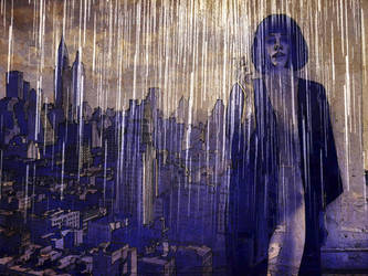 Woman waiting in rain 1 by LodyArt