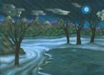 Winter Night by magnifulouschicken
