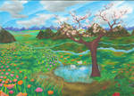 Spring Meadow by magnifulouschicken