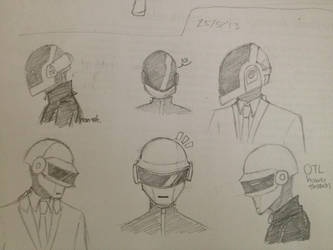 daft punk doodles by GiottoLover