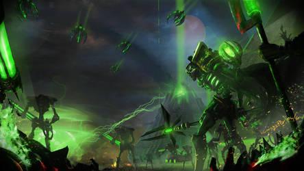 Necron Lord : Dawn of War by kumagzter