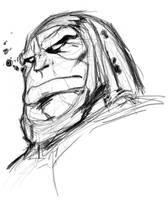 Fav Villainsketch - Darkseid by Dawnsknight