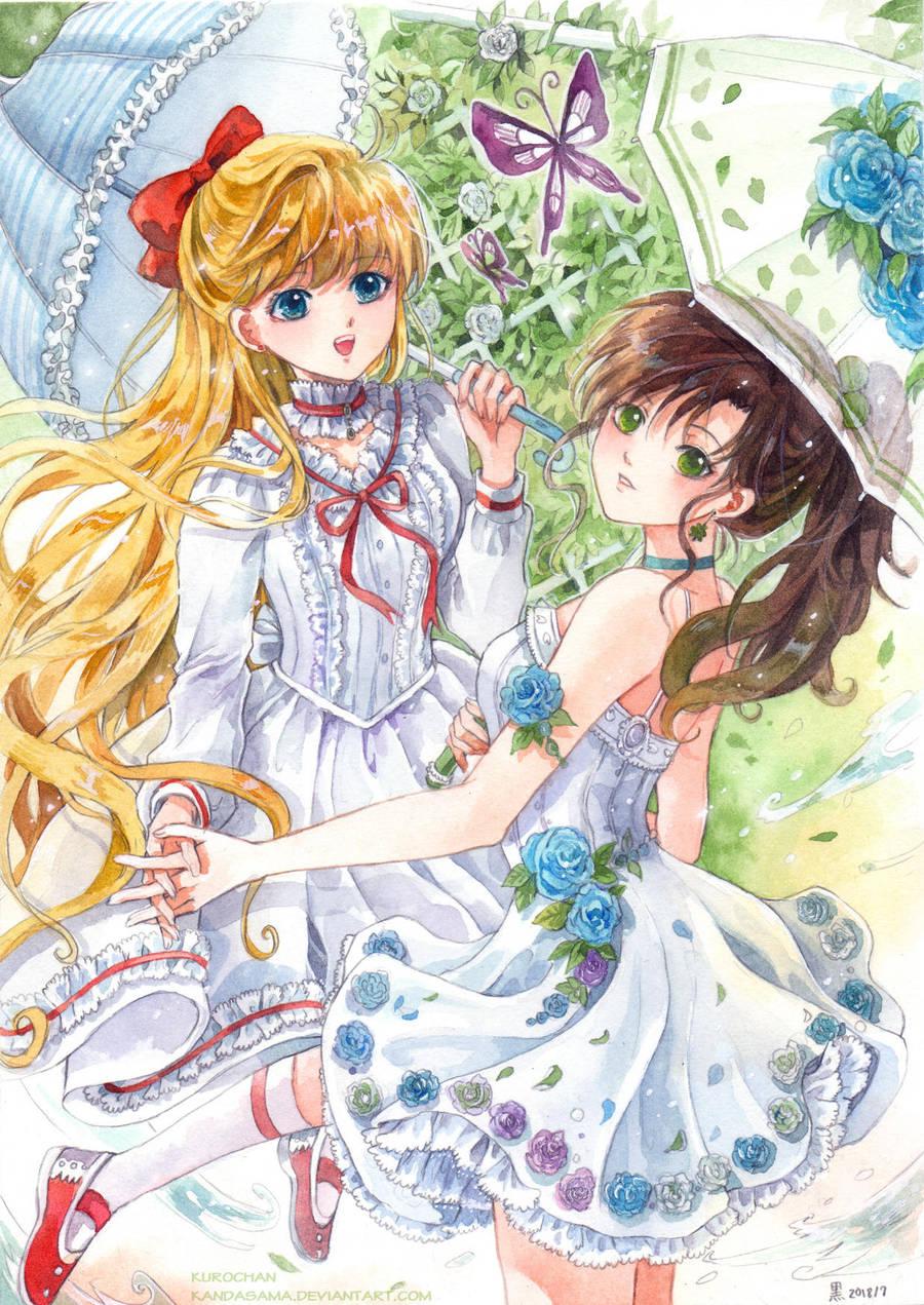 Minako and Makoto by kandasama